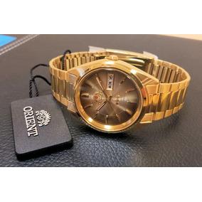 24163a6c3c8 Relogio Masculino De Ouro Puro Diamante Orient - Relógios De Pulso ...