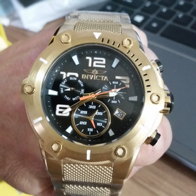 0e0efa68bd3 Relogio Masculino Dourado - Relógio Invicta Masculino Aço inoxidável ...