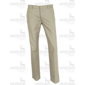 Pantalón De Vestir Oro Tergal Con Corte Recto Dama