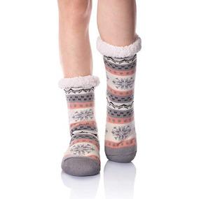 Calcetas Para Mujer Con Copos De Nieve