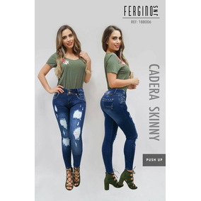 Jeans Fergino 18b006 Destroyed Colombiano Push Up Env.gratis
