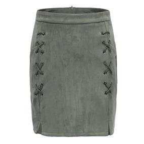 Faldas Para Dama Calle Chamois Correa Cruzada A-line