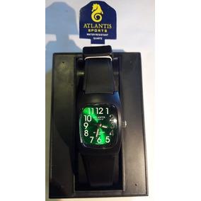Relógio Atlantis 5541w Preto Fundo Verde Feminino