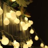 Luces De Navidad Led X 10 M Con 100 Esferas De Luces Cálidas
