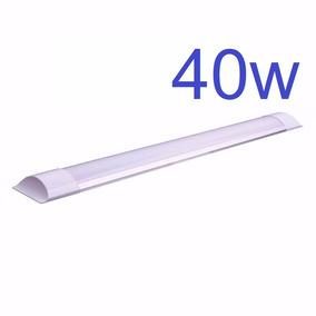 Kit 4 Luminária Tubular Led Slim Branco Frio 120cm 40w
