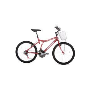 Bicicleta Passeio Aro 24 Bristol Peak Vermelha Houston