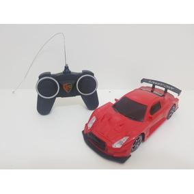 Carro Carrinho Controle Remoto Esportivo Vermelho Nissan Gtr