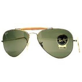 Óculos De Sol Aviator Caçador 3030 Com Mola Armação Metal 8c0d932ca0