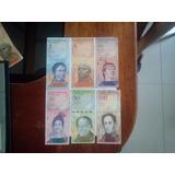 Billete Venezuela: 06 Billetes Bolívares (2008 Al 2011)