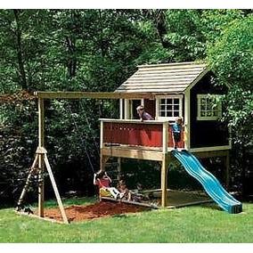 Planta Casinha C/ Playground P/ Construção Ref.133.3