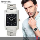 Reloj Kenneth Cole Ny Acero Negro -65% - Original Nuevo