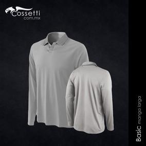 Camiseta Tipo Polo Manga Larga Tecno Dri Hombre Cossetti 99db45b3599ff