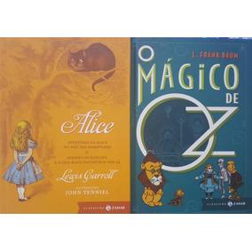 Alice + O Mágico De Oz 2 Livros Zahar Capa Dura Frete 16
