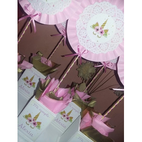 Centro De Mesa De Unicornio Souvenirs Para Cumpleaños Infantiles