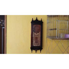Linda Caixa De Relógio Antigo Toda Em Madeira