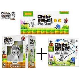 Boneco + Jogo Nintendo 3ds Chibi-robo Zip Lash Chibi Robo