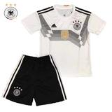Uniforme Infantil Camisa E Shorts Alemanha Oficial Copa 2018 5b88533c566d8