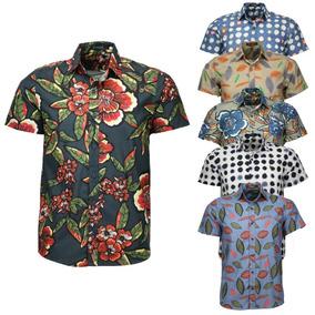 Camisa Amil Toten Floral M Curta Sem Bolso Lançamento 2019