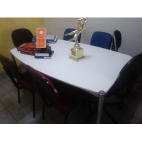 Mesa De Reunião Tok Stok Branca