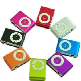Reproductor Mp3 Tipo Ipod Shuffle Metalico Sin Audifonos
