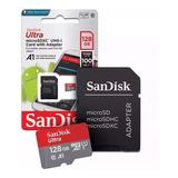 Cartão Micro Sd 128gb Sandisk Ultra 100mb/s Cl10 Lacrado