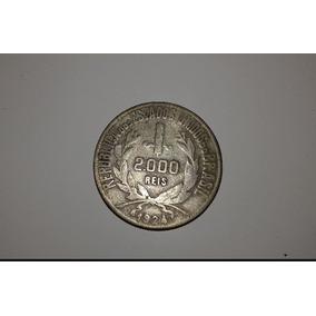 2000 Réis 1924. Moedas Antigas, Raras, Para Colecionador.