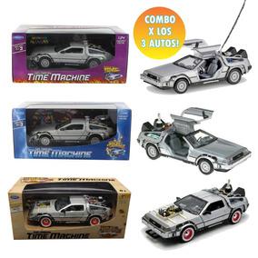 Combo X3 Autos Volver Al Futuro Delorean 1:24 Welly Manias