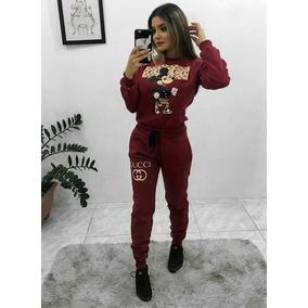 ba4b831444602 Conjunto Moletom Feminino Adidas - Calçados, Roupas e Bolsas Bordô ...