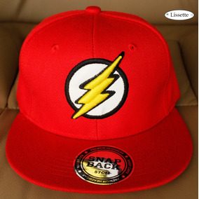 1 Gorra Flash Dc Comics Batman Gorra Plana Bordada Ajustabl