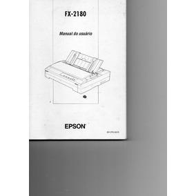 Manual Usuário Impressora Epson Fx-2180 - Michaella