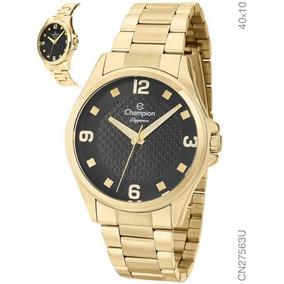 Relógio Champion Feminino Mostrador Preto Original Cn27563u