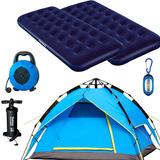 Carpa 4 Pers Autom Camping + 2 Colchones 1p + Infl + Alargue