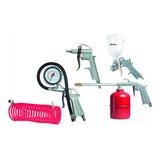 Kit 5 Pçs Pistola Pintura Acessórios Pulverização Compressor