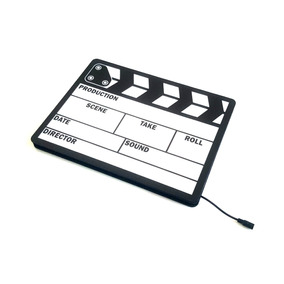 Claquete Placa Cinema Letreiro Luminoso Led