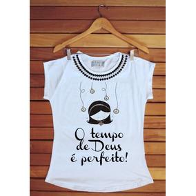 Kit Camiseta Feminina 15und Com Pedras Evangélica Gospel