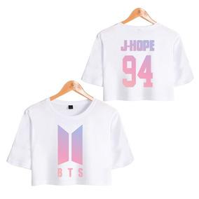 Camiseta Básica Cropped Feminino Bts J-hope 94 E25 157f67ac488