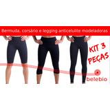 Bermuda-corsário-legging Anticelulite | Belebio - Kit 3pçs