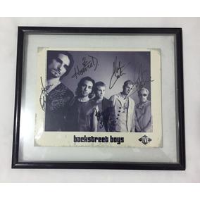Foto Autografada Dos Backstreet Boys Original - Rio 2001