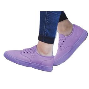 Tenis Sneaker Dc Shoes Dama Textil Lila 60166 Dtt
