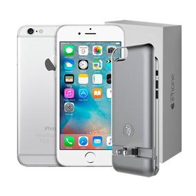 Celular Iphone 6 16gb Reacondicionado Silver + Power Case