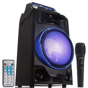 Caixa Som Bluetooth Amplificada 1800w Pmpo Karaokê Mp3 Fm Sd
