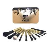 Brochas Maquillaje Set De 12 Brochas Bolsillo Kylie Maquilla