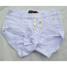 Short Hots Pants Feminino Colorido E Jeans Plus Size