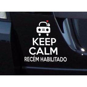 Adesivo Carro Keep Calm Recem Habilitada Recem Habilitado