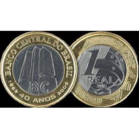 Moeda 1 Real - 40 Anos Do Banco Central Do Brasil