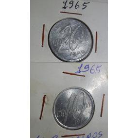 Moeda De 10 E 20 Cruzeiros De Aluminio 1965