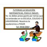 Tutorias De Matematicas Fisica E Ingles Convesacional