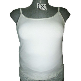 Blusa Blanca De Tirantes Talla 1 X Extragrandes
