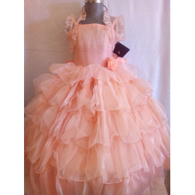 Vestidos Niña Talla 2 Color Melón