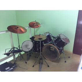 Bateria Barata Completa Drummer Com Pratos